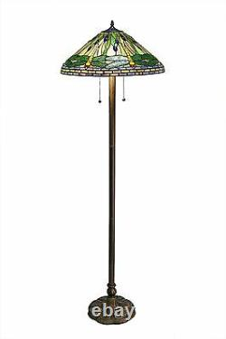 Tiffany Style Green Dragonfly Floor Lamp Stained Glass Tiffany style lighting