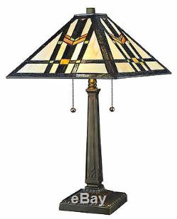 Tiffany Style Handcrafted Mission Table Lamp 16 Shade