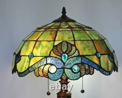Tiffany Style Handcrafted Pearl Vintage Floor Lamp 18 Shade