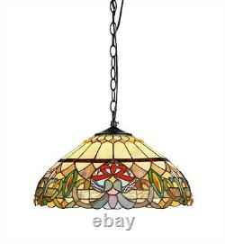 Tiffany Style Hanging Stained Glass Ceiling Pendant Light Lamp 18 Shade
