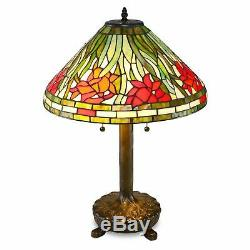 Tiffany Style Stained Glass Daffodil Lamp 18 Shade New