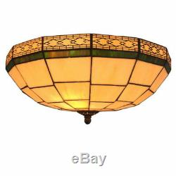 Tiffany Style Stained Glass Flush Mount Chandeliers Ceiling Light Lighting Lamp