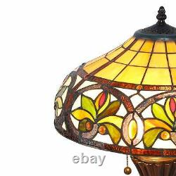 Tiffany Style Stained Glass Sunrise Table Lamp Accent Reading Lamp 2 Light