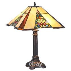 Tiffany Style Stained Glass Victorian Handcrafted Table Lamp 16 Shade