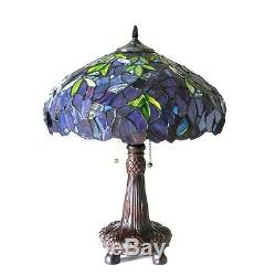 Tiffany Style Stained Glass Wisteria Multi-Color Table Lamp ONLY ONE THIS PRICE