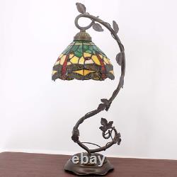 Tiffany Style Table Lamp Bedroom Livingroom Light Stained Glass Desk NEW