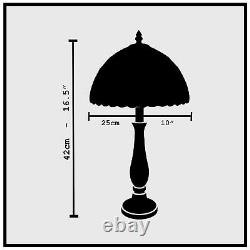 Tiffany Style Table Lamp Handcrafted Bedside Light Desk Lamps Stained Glass UK