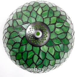 Tiffany Style Table Lamp Light Green Wisteria Stained Glass Lampshade 18 Inch Ta