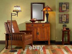 Tiffany Style Table Lamp Mission Bronze Stained Glass for Living Room Bedroom
