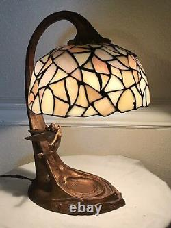 Tiffany Style Tinkerbell 50th Anniversary Stained Glass Lamp Limited Edition