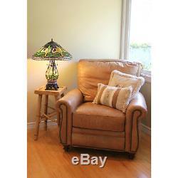 Tiffany Style Yellow Dragonfly Table Lamp WithIlluminated Base 20 Shade