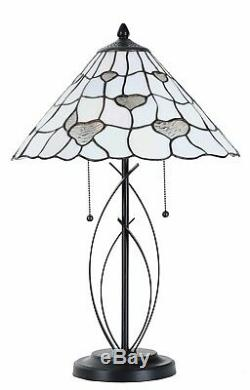 Tiffany Table Lamp 100% Genuine Stained Glass