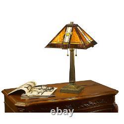 Tiffany-style Aztec Mission Lamp Set 16 Shade