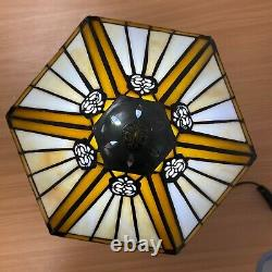 Tiffany style Stained Glass Hexagon Lamp Shade Beautiful Hand Crafted light UK