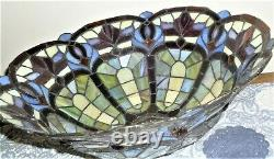 Tiffany style stained glass Lamp shade jeweled 16