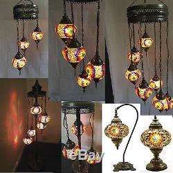 Turkish Moroccan Mosaic Light Tiffany Glass Desk Wall Floor Hanging Lamp