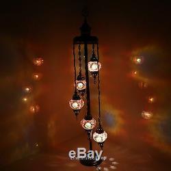 Turkish Moroccan Style Mosaic Lamp Desk Table Lamp light Medium Globe