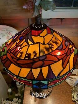 Very Rare Disney Snow White Limited Ed Stained Glass Lamp