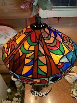 Very Rare Snow White Disney Stained Glass Lamp By Jody Daily & Kevin Kydney