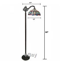 Victorian Stained Glass Reading Floor Lamp Tiffany Style