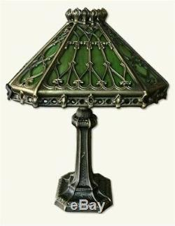 Victorian Trading Co Enchanted Gothic Green Stained Glass Desk Lamp 12 x 18